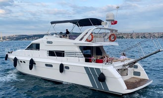 Charter the 65' Power Mega Yacht in İstanbul, Turkey!
