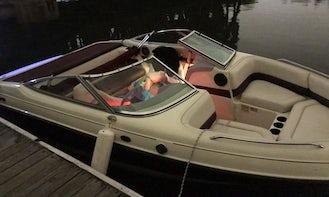 21' Party Speedboat on Lake Michigan!! Lights & Loud Fun!