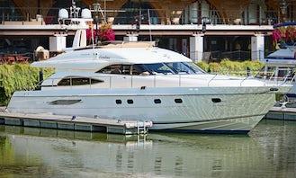 Princess 65 Flybridge Power Mega Yacht Rental in London, England