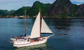 Crewed Charter on a 90ft Sailing Yacht in Lofoten Norway!