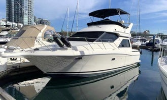 Luxury 35ft, 2 Bedroom One Bathroom Motor Yacht For Charter in Downtown Vancouver