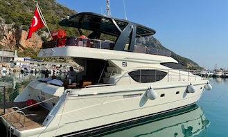 2010 Ferretti 550 Luxry Yacht for Charter in Antalya