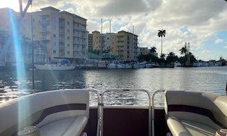 24ft Pontoon Rental in Miami