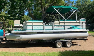 21ft Beachcomber Pontoon Boat with Gas Included for a Day on Lake Texoma