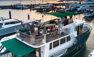 Megaway 57 Steel Trawler for Overnight Staycation on board + 2 free hour sailing….