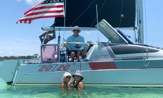 Stiletto 30 Sailing Catamaran for Dolphin Watching, Sunsets, Snorkeling and More in Destin