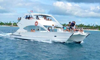 Cap Cana Saona Private Cruise On Two Level Party Yacht