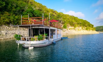55' Skipperliner Houseboat-Yacht for 50 people at Cypress Creek Arm in a scenic cove next to zipline