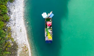 Triple Decker 55 foot Airstream Houseboat-Yacht in a Secluded Picturesque Lake Travis Cove
