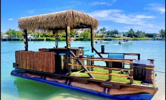 Tiki Boat With Captain And Fuel in Fort Lauderdale,