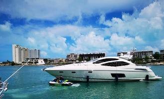Sunseeker 64 Luxury Yacht in Cancún, 5 hours minimum rental