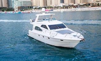 55ft Gulf Craft Motor Yacht Charter in Dubai