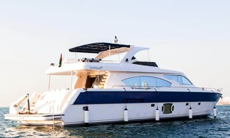 Luxury 85ft Power Mega Yacht to cruise in Dubai