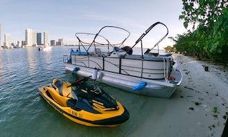 2022 Lexington 22ft Pontoon Boat Rental in Miami