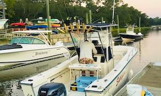 Center console boat in Wilmington/Wrightsville Beach.