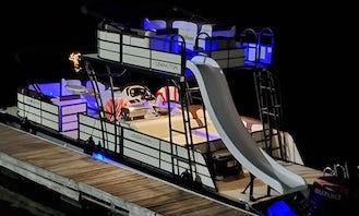 2022 Lexington double deck pontoon on Lake Norman