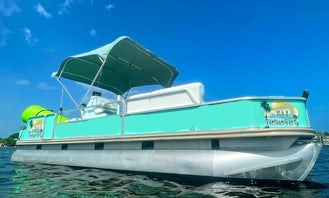 25ft Party Pontoon Boat in Fort Lauderdale