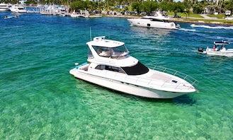 52' Sea Ray Motor Yacht Rental & Party, with Captain, enjoy Miami Beach in a unique way