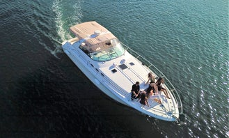 40' Sea Ray Sundancer for rent in Newport Beach- Perfect for an Emerald Bay or Harbor Excursion
