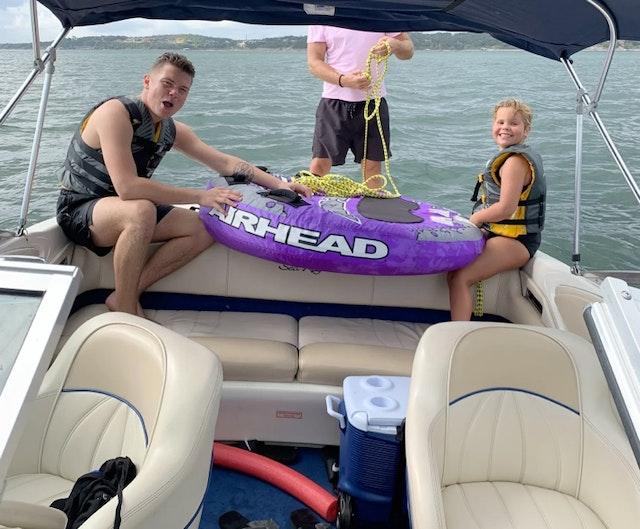 Wakeboarding and Tubing on Lake Travis