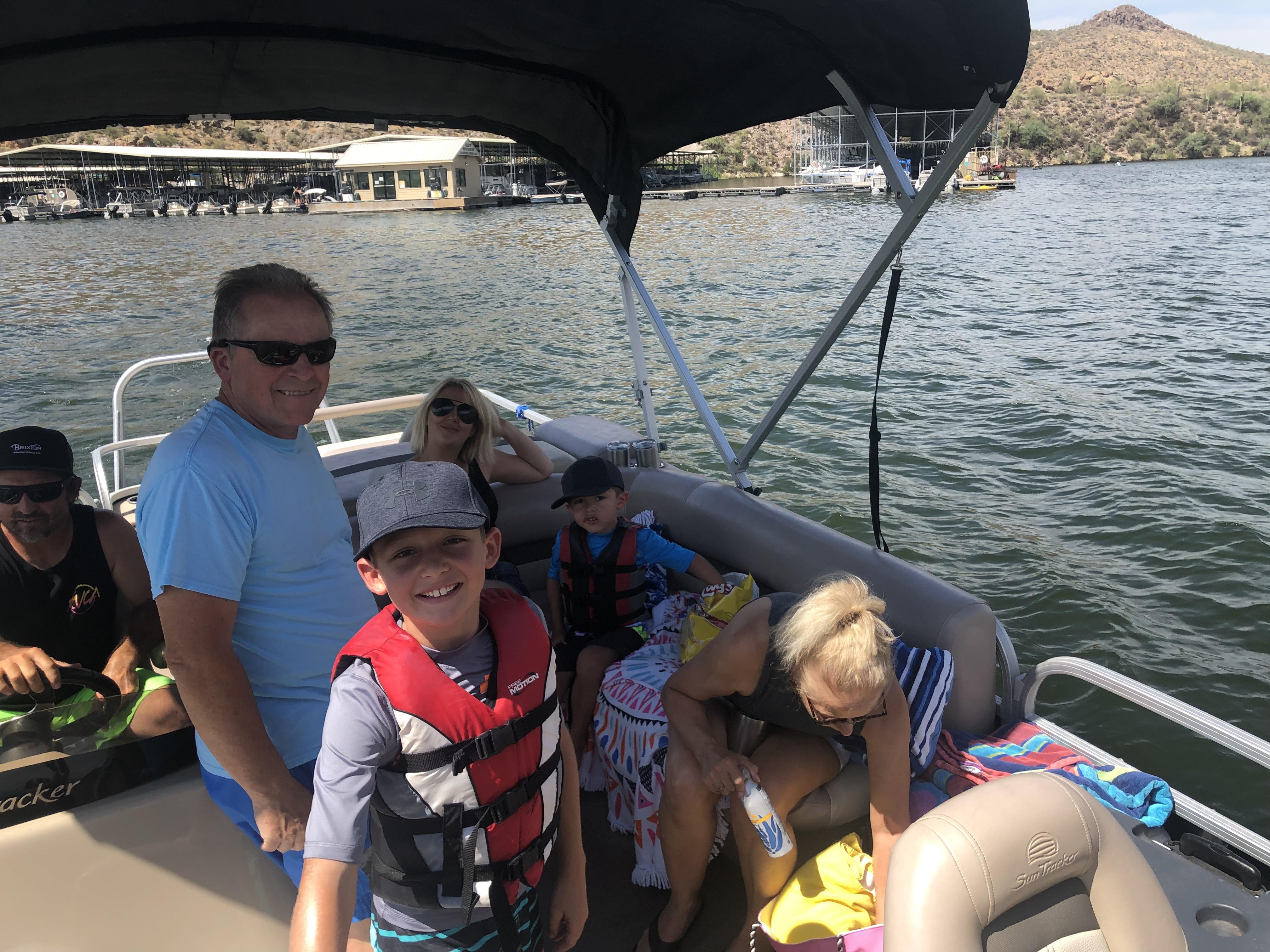Pontoon for rent on Canyon Lake | GetMyBoat